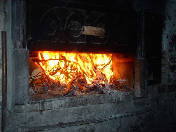 backofen brennt